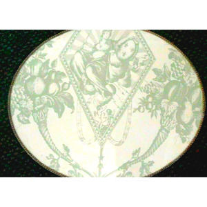 AGRARIA HOME GLASS TOILE TRAY SIGNED